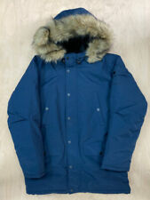 Carhartt Wip Anchorage Parka Coat Navy Jacket Fur winter Ship internationally