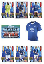 Match Attax 2015/16 Trading Cards. Individual Base Cards Everton 92-107