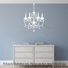 Vintage Chandelier Light Wall Stickers Removable Vinyl Wall Decals Bedroom Decor