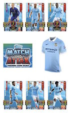 Match Attax 2015/16 Trading Cards. Individual Base Cards Manchester City 146-162