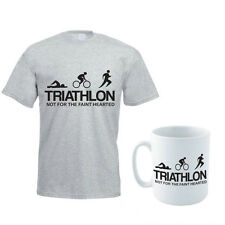 TRIATHLON - Swim / Bike / Run / Sport /Fun / Gift Themed Men's T-Shirt & Mug Set