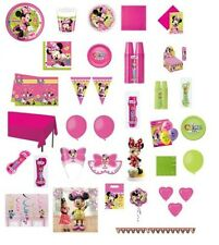 KIT COMPLEANNO BAMBINA MINNIE BOUTIQUE ADDOBBI FESTA PARTY ACCESSORI DECORAZIONI