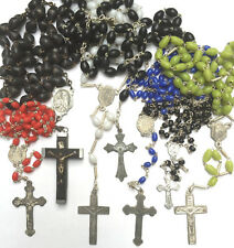 Vintage Italian Glass or Wooden Rosary Beads