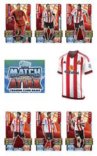 Match Attax 2015/16 Trading Cards. Individual Base Cards Sunderland 254-270