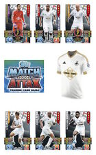 Match Attax 2015/16 Trading Cards. Individual Base Swansea City 272-288
