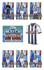 Match Attax 2015/16 Trading Cards. Individual Base West Bromwich Albion 326-342