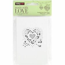 20x Hobbycraft Heart Place Cards Pearlescent White or Ivory Wedding Table Decor
