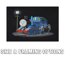 BANKSY THOMAS THE TANK ENGINE GRAFFITI STREET ART QUALITY CANVAS POSTER PRINT