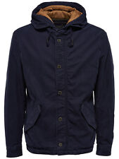 Only & Sons Sonny Hooded Jacket In Navy