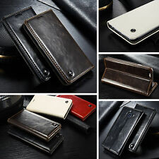 Leder Tasche iPhone 4 / 4s Handy Hülle Premium Flip Case Apple Luxus Etui Cover