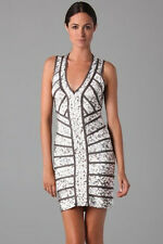 Womens Sexy Bandage Style Print Bodycon Sleeveless Party Pencil Evening Dress