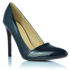Damenschuhe High Heels Stiletto Pumps Abendschuhe Lack-Optik Gr. 36- 40