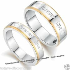 Forever Love Heart Rings Promise Xmas Gift For Her Him Wife Husband Couple Women