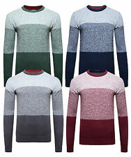 Lee Cooper New Men's Slim Fit Crew Neck Jumper Knitted Fashion Winter Pullover