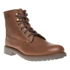 New Mens Firetrap Brown Traffic Leather Boots Lace Up