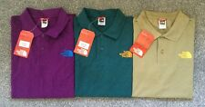 NEW THE NORTH FACE MEN'S PURPLE / TEAL BLUE COTTON PIQUET POLO SHIRT SIZE S M L
