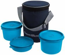 Signoraware Executive Medium Lunch Box with Bag - 3 Containers Lunch Box (516)