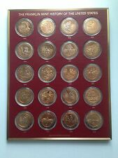 THE FRANKLIN MINT HISTORY OF UNITED STATES SOLID BRONZE EDITION COIN COLLECTION