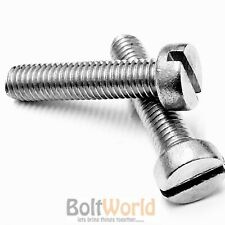 M5 / 5mm A2 STAINLESS SLOTTED CHEESE HEAD MACHINE SCREWS METRIC SLOT SCREW