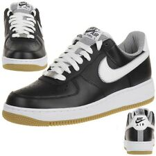 Nike AIR Force 1 Leder Sneaker Lifestyle Schuhe schwarz Men 488298 046