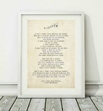044 Reo Speedwagon - Can't Fight This Feeling - Song Lyric Poster Print - A4 A3