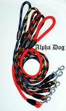 NEW Alpha Dog Soft Strong Nylon Rope Dog Lead Color Choice 115cm/45 inches