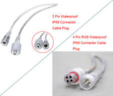 2 Pin/4 Pin Single/RGB Waterproof IP68  Connector Cable PlugFor LED Strips/CCTV