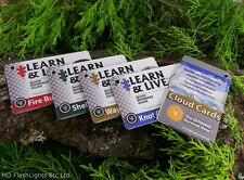 UST LEARN & LIVE QUICK REFERENCE GUIDES BUSHCRAFT SURVIVAL HIKING CAMPING EDC
