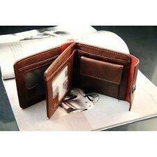 Premium Quality PU Leather Mens Wallet Male Purse with Zipper Coin Card Holder