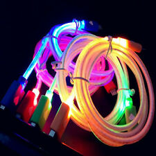 LED Visible Light Micro USB Charge Data Sync Cable For Samsung Galaxy S7 S6 edge