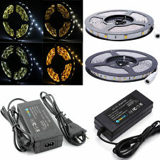 5M 5050 3528 SMD LED Streifen Strip e Band Lichterkette Leiste Lichter Trafo Neu