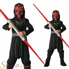 Boys Darth Maul Costume Star Wars Halloween Fancy Dress Child Outfit