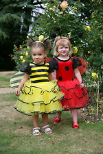 TODDLER GIRLS DELUXE LADYBIRD / BUMBLE BEE FAIRY PRINCESS DRESS COSTUME AGE 2-3
