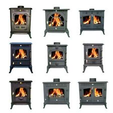 FoxHunter Cast Iron Log Burner MultiFuel Wood Burning Stove WoodBurner 9 Models
