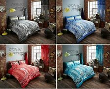 New Duvet Quilt Cover Bedding Set Inspire Single Double King or Matching Curtain