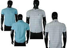 New Duck And Cover Eddison Off White , Blue Long Sleeve Casual Shirt  Mens
