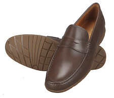 Adamis Mens New Slip On Formal Shoes Brown Genuine Leather GCH-5