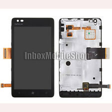 Black New LCD Display Touch Screen Digitizer Assembly with Frame Nokia Lumia 900