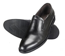 Adamis Mens New Slip On Formal Shoes Black Genuine Leather GCH-8