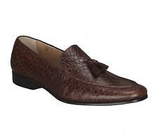 Adamis Mens New Slip On Formal Shoes Brown Genuine Leather PF-29