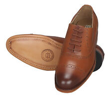 Adamis Mens New Lace Up Formal Shoes Tan Genuine Leather DL-3