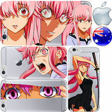 Silicone Case Cover Mirai Pink Hair Future Diary Anime FreshPrintAU