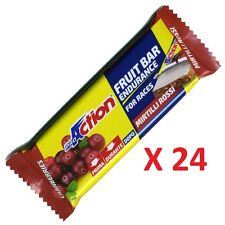 Proaction - Fruit Bar Endurance, 24 Barrette Energetiche da 40 g. Carboidrati