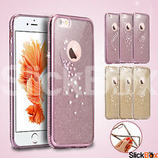 Luxury Diamond Bling Sparkle Glitter Silicone TPU Case Cover For iPhone 6 6 Plus
