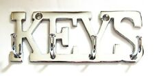 KEY HOOKS Hanger Brass Chrome Antique Finish Wall Door Hook Rack - KEYS HOLDER