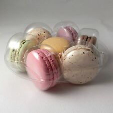 Round clear macaroon / macaron inserts / plastic trays for 7 macaroons
