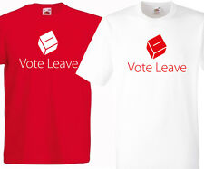 VOTE LEAVE T-SHIRT | EXIT EUROPE REFERENDUM | EU | RED OR WHITE BREXIT OUT 2016
