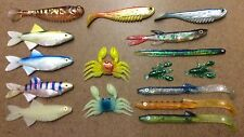 Cod Pollack & Bass Soft Shad Plastic lures - Shad & Open Belly - Multi Choice