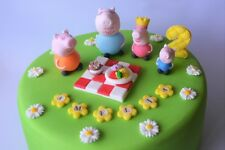 peppa pig cake toppers edible decoration personalised birthday unofficial icing