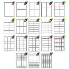 A4 Address Labels Self Adhesive Sticky Sheets Inkjet Copier Laser Printer Peel